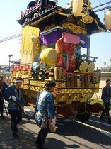 八幡太郎の山車(鳶の半纏)