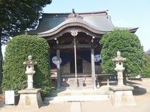 川越市池辺の熊野神社の奉納幕(幕)