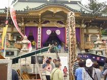 坂戸永源寺のお釈迦様(奉納幕)