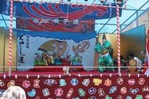 八坂神社 宿組囃子連(舞台幕)
