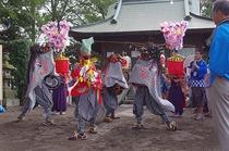 埼玉県川島町 伊草獅子舞(神社のぼり)